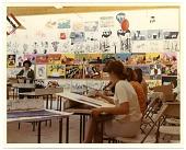 view Esther Rolick teaching art class digital asset number 1