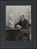 view Photographs of Arnold Rönnebeck, with Marsden Hartley Bust digital asset: Photographs of Arnold Rönnebeck, with Marsden Hartley Bust: circa 1945-1960