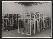 view Interior of Museum Wiesbaden with paintings on storage racks digital asset number 1