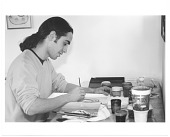 view James Cordova working at his desk digital asset number 1