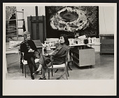 view Photograph of May Tabak Rosenberg and June Wayne in Wayne's studio in Los Angeles digital asset number 1