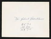 view Robert Rosenblum Papers digital asset: General Correspondence