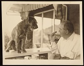view Edward Bruce with a dog digital asset number 1