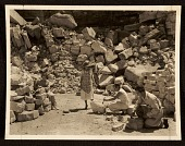 view Florence Sprague with her students at a deserted quarry of Stone City digital asset number 1