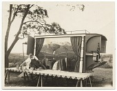 view Photograph of Grant Wood and his ice wagon digital asset number 1