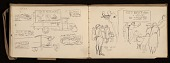 view Lewis Rubenstein's sketchbook documenting a hunger march to Washington, D.C. digital asset number 1