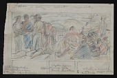view Sketch for <em>Osage Treaty</em> mural digital asset number 1