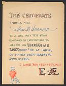 view Illustrated card from Eero Saarinen to Aline Saarinen digital asset number 1