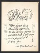 view Handwritten card from Eero Saarinen to Aline Saarinen digital asset number 1