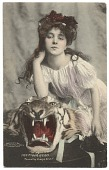 view Evelyn Nesbit with a stuffed tiger head digital asset number 1