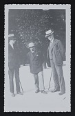 view Photograph of Henri P. Roche,Constantin Brancusi, and John Quinn digital asset number 1