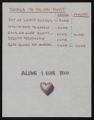 view Eero Saarinen note to Aline B. (Aline Bernstein) Saarinen with illustrated envelope digital asset number 1
