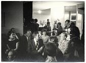 view Eero Saarinen giving a slide presentation to a group digital asset number 1