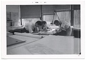view Eero Saarinen and assistants working on drawings digital asset number 1