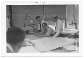 view Eero Saarinen and assistants working on drawings digital asset number 1