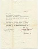 view George Segal, New Brunswick, N.J. letter to Audrey Sabol digital asset number 1