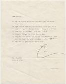 view Claes Oldenburg, New York, N.Y. letter to Audrey Sabol digital asset number 1