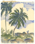 view Two Palm Trees in the Clouds at Senado digital asset number 1