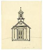 view Schoolhouse digital asset: drawing