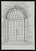 view Sketch of doorway, New Castle, Delaware digital asset: drawing 1