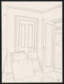 view Drawing of Emilio Sanchez's New York studio digital asset number 1