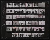view Contact sheet with images of Richard Avedon at opening of Diane Arbus exhibition at the Museum of Modern Art digital asset number 1