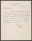 view Jackson Pollock letter to Bertha Schaefer digital asset number 1
