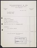view Wildenstein & Co. sales receipt for Henri Harpignies painting <em>Flowers in a landscape</em> digital asset number 1