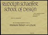 view Rudolph Schaeffer School of Design certificate of completion for course in interior design and color digital asset number 1