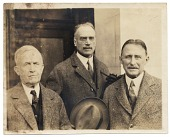 view W.E. Schofield and two unidentified men digital asset number 1