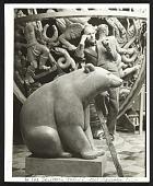 view Paul Manship with his sculpture <em>Black Bear</em> digital asset number 1