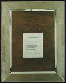 view Reproduction of verso of Walter De Maria's <em>Silver portrait of Dorian Gray</em> digital asset number 1