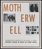 view Sidney Janis Gallery exhibition poster for <em>Motherwell</em> digital asset number 1