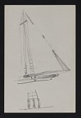view Sketch of rigging on a sailboat digital asset number 1