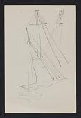 view Sketch of multiple sailboat sails digital asset number 1