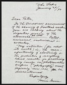 view Morris Graves letter to Peter Howard Selz digital asset number 1
