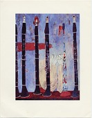 view Reproduction of Ben Shahn's painting, <em>Clarinets with Tin Horn</em> digital asset number 1