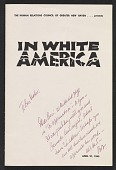 view The Human Relations Council of Greater New Haven presents <em>In white America</em> digital asset: cover