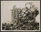 view A building in Hiroshima destroyed by the atom bomb. digital asset number 1