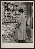 view Ben Shahn looking at postcards digital asset number 1