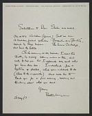 view Dorothea Lange letter to Ben Shahn digital asset number 1