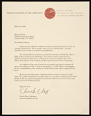 view Chuck Close, New York, N.Y. letter to Honor? Desmond Sharrer, Charlottesville, Va. digital asset number 1