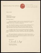 view Chuck Close, New York, N.Y. letter to Honor? Desmond Sharrer, Charlottesville, Va. digital asset number 1