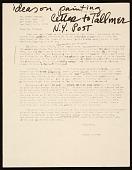 view Honoré Sharrer, Scottsville, N.Y. letter to Jerry Tallmer, New York, N.Y. digital asset number 1
