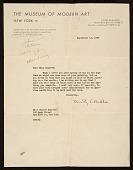 view Dorothy Canning Miller, New York, N.Y. letter to Honoré Sharrer, New York, N.Y. digital asset number 1
