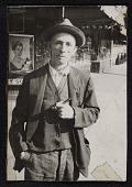 view Source material for <em>Tribute to the American Working People</em>. Man with hat and pipe digital asset number 1