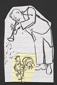 view Honoré Sharrer sketches of a trumpeter and a rooster digital asset number 1