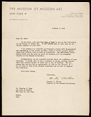 view Dorothy Canning Miller, New York, N.Y. letter to Charles Green Shaw, New York, N.Y. digital asset number 1