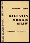 "view ""Recent Paintings by Gallatin, Morris and Shaw"" digital asset number 1"