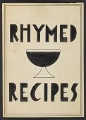 view Charles Green Shaw's <em>Rhymed recipes</em> digital asset number 1
